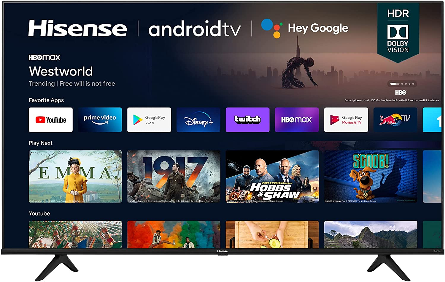 Hisense 65A6G 65-Inch 4K Ultra HD Android Smart TV